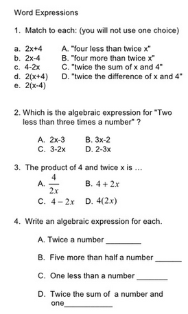 Equivalent Expressions 7ee 1 2 Mrs Johnson 7th Grade Math Wms
