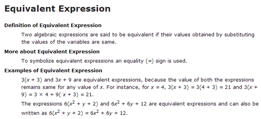 Equivalent Expressions 7EE12 Mrs Johnson 7th Grade Math WMS – Writing Expressions and Equations Worksheet